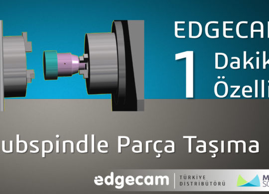 Subspindle parca tasima
